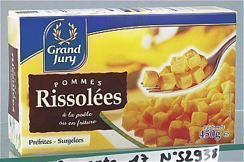Pommes de Terre Rissolées PERLOR - la boîte de 450 g - Surgelés - Promocash Brive