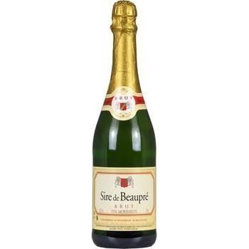 Vin mousseux brut Sire de Beaupré 10,5° 750 ml - Vins - champagnes - Promocash Anglet