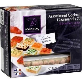 Assortiment cocktail gourmand 70 bouchées salées x70 - Surgelés - Promocash Orleans
