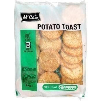 Potato toast 2 kg - Surgelés - Promocash Albi