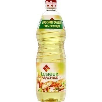 Huile d'Arachide LESIEUR - la bouteille de 1 litre - Epicerie Salée - Promocash Anglet