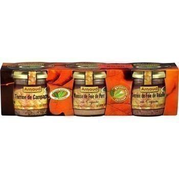 Terrines de campagne de foie de porc et de foie de volaille 3x80 g - Epicerie Salée - Promocash Anglet