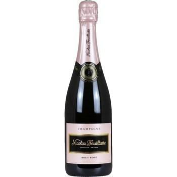 Champagne brut rosé Nicolas Feuillatte 12° 75 cl - Vins - champagnes - Promocash Albi