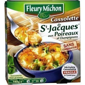 Cassolette de Saint-Jacques aux poireaux et champignons - Charcuterie Traiteur - Promocash LA FARLEDE