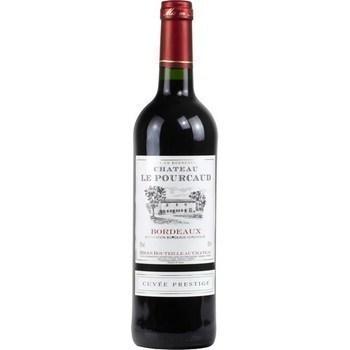 Bordeaux cuvée Prestige Château le Pourcaud 12° 75 cl - Vins - champagnes - Promocash Douai