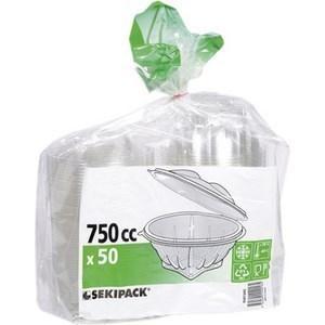 Bol salade transparent à couvercle 50x750 cc - Bazar - Promocash Aurillac