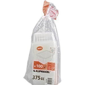 Barquettes Scellables Translucides 375 g - la paquet de 100 - Bazar - Promocash Anglet