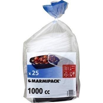 Boites alimentaires fond noir avec couvercle 1000 cc x25 - Epicerie Sucrée - Promocash Albi