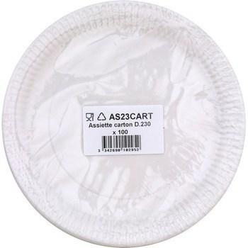 Assiette carton D230 x100 - Bazar - Promocash LA FARLEDE