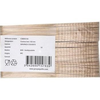 Couteau bois 160 mm x50 - Bazar - Promocash Thonon