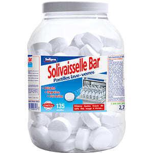 Pastilles lave-verres Solivaisselle Bar - Hygiène droguerie parfumerie - Promocash Thonon