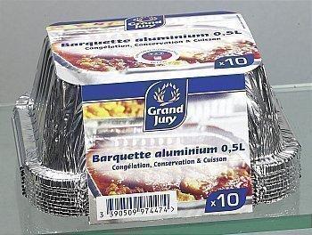 Barquettes aluminium profondes 0,5 l - Bazar - Promocash Castres