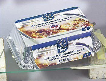 Barquettes aluminium plates - Bazar - Promocash Castres