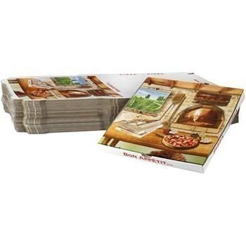 Boites à pizza coins cassés 34,5 H 3 cm x100 - Bazar - Promocash Millau