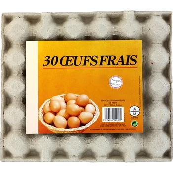 oeufs frais calibre moyen - Crèmerie - Promocash Arles