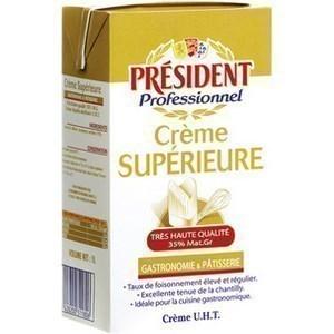 Crème supérieur demi-sel de Bretagne 35% M.G.  1 l