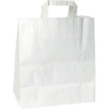 Cabas papier 32x15x38 cm blanc x50 - Bazar - Promocash Barr