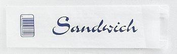 2000 Sacs Sandwich imprimés à fenêtre Kraft Blanc - Bazar - Promocash Bourgoin