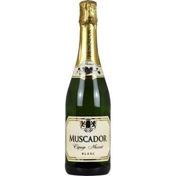 Vin pétillant Muscat blanc Muscador 11,5° 75 cl - Vins - champagnes - Promocash Millau