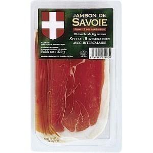 Jambon de Savoie 20 tranches x 16 g - Charcuterie Traiteur - Promocash Gap