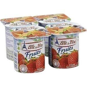 Yaourts aux fruits à la fraise - en pot de 125 g - le pack de 4 - Crèmerie - Promocash Saint Malo