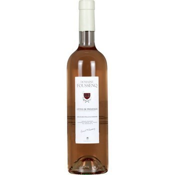 Côtes de Provence Domaine Foussenq 12,5° 75 cl - Vins - champagnes - Promocash Valenciennes