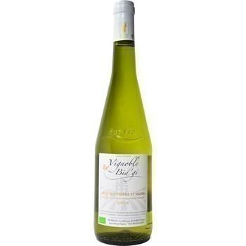 Muscadet Sèvre et Maine sur Lie bio Vignoble Bid'gi 12° 75 cl - Vins - champagnes - Promocash Agen