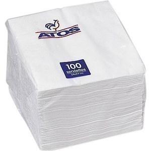 Serviettes blanches 2 plis 100x24x24 - Bazar - Promocash Avignon