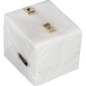 Serviettes cocktail 2 plis blanc 20x20 cm - Bazar - Promocash Castres