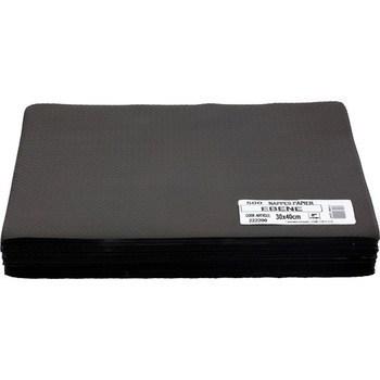 Nappes papier ébène 30x40 cm - Bazar - Promocash Belfort