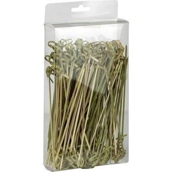 Piques bambou torsadés 15 cm - Bazar - Promocash Douai