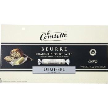 Beurre La Conviette de Charentes-Poitou AOP demi-sel x30 - Crèmerie - Promocash Arles