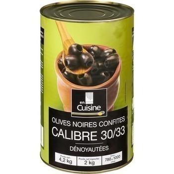 Olives noires confites dénoyautées calibre 30/33 2 kg - Epicerie Salée - Promocash Montluçon