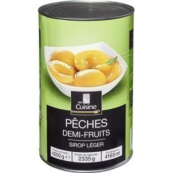 Pêches demi-fruits au sirop léger 2335 g - Epicerie Sucrée - Promocash Millau