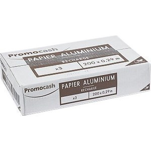 Films aluminium 200 m x 29 cm x 3 - Hygiène droguerie parfumerie - Promocash Castres