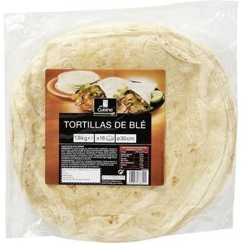 Tortillas de blé 30 cm x18 - Epicerie Salée - Promocash Dax