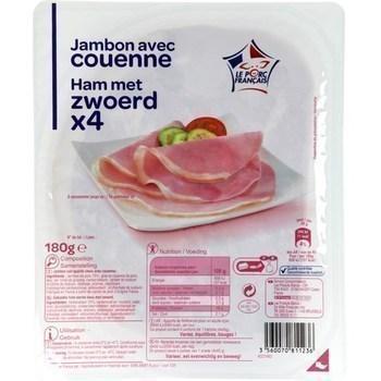 Jambon avec couenne 180 g - Charcuterie Traiteur - Promocash Gap