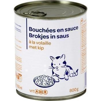Bouchées en sauce à la volaille pour chat 800 g - Epicerie Salée - Promocash AVIGNON