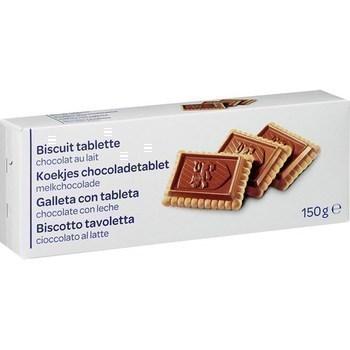 Biscuits tablette chocolat au lait 150 g - Epicerie Sucrée - Promocash Rodez