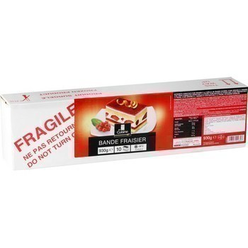 Bande fraisier 930 g - Surgelés - Promocash Anglet