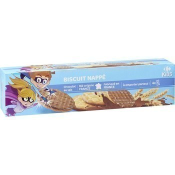 Biscuit nappé chocolat au lait 200 g - Epicerie Sucrée - Promocash Albi