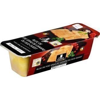 Bloc de foie gras de canard du Sud-Ouest IGP 1 kg - Charcuterie Traiteur - Promocash Narbonne
