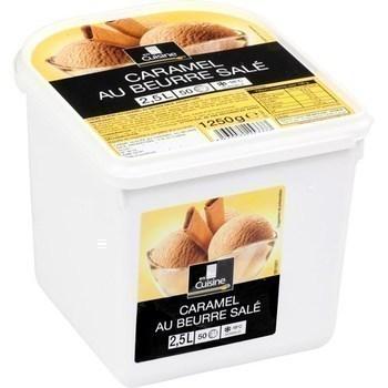 Crème glacée caramel au beurre salé 1250 g - Surgelés - Promocash Aurillac
