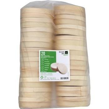 Boites rondes bois avec couvercle papier cuisson D110 H30 mm x20 - Bazar - Promocash Lons le Saunier