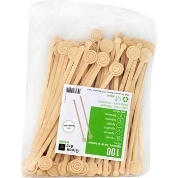 Agitateurs 'Spirale' en bambou 200 mm x100 - Bazar - Promocash Limoges