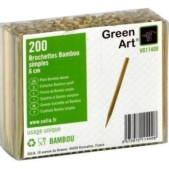 Brochettes bambou simples 6 cm x200 - Bazar - Promocash Granville