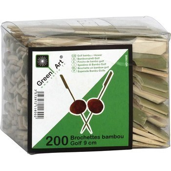 Brochettes bambou Golf 9cm - Bazar - Promocash Vichy