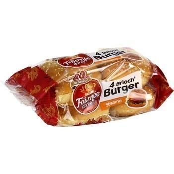 Brioch' Burger sésame 4x62,5 g - Pains et viennoiseries - Promocash Sete