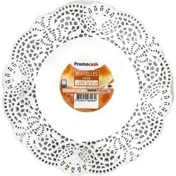 Dentelles papier diam 32 cm x250 - Bazar - Promocash Granville