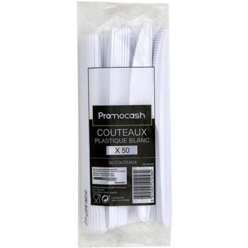 Couteaux plastique blanc x50 - Bazar - Promocash Promocash Reims